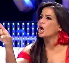 Aída Nízar. Captura de Telecinco. 28 de julio de 2011.
