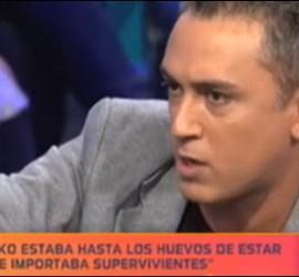 Captura de 'La Noria' durante una intervención de Kiko Hernández el 3 de septiembre de 2011.