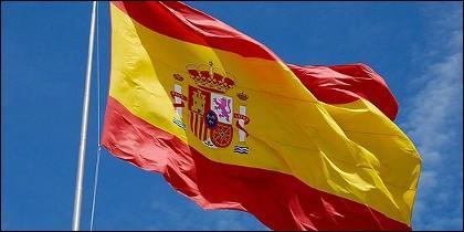 La bandera rojigualda española.