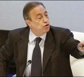 Florentino Pérez en la Asamblea de socios.