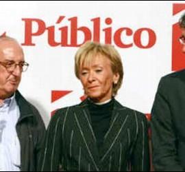 Jaume Roures, Fernández de la Vega y Tatxo Benet.