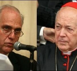 Rector Rubio y cardenal Cipriani