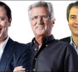 Paco González, Pepe Domingo Castaño y Manolo Lama.