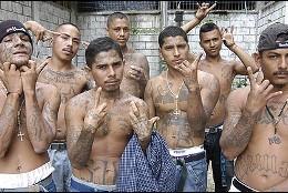 Delincuentes de las maras centroamericanas.