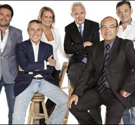 Albert Castillón, Melchor Miralles, Isabel San Sebastián, Luis del Olmo, Ángel Expósito y José A. Abellán.
