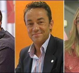 Paco Grande, Sergio Sauca y Silvia Barba.