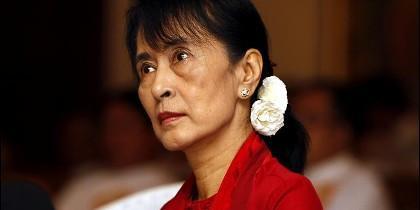 La premio Nobel de la Paz Aung San Suu Kyi.