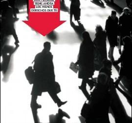 Cartel de 'Nadei sin hogar' de Cáritas