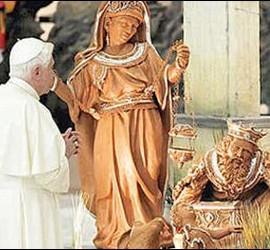 Benedicto con los Reyes Magos