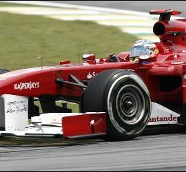 El piloto español Fernando Alonso, de Ferrari.