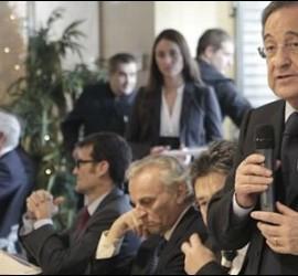 Florentino Pérez en su discurso.