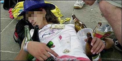 Alcohol, juerga, borracho y borrachera.