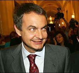 De la Vega, Zapatero y Rubalcaba.