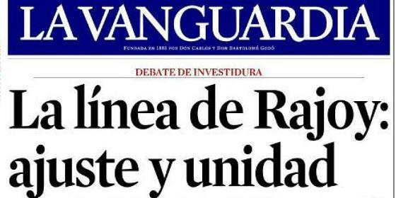 Nace la vanguardia 39 marianista 39 barcelona catalu a - Portada de la vanguardia ...