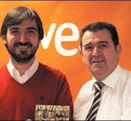 Nacho Escolar y Arsenio Escolar en RTVE.