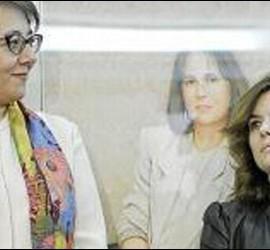 Carmen Martínez de Castro y Soraya Sáenz de Santamaría.
