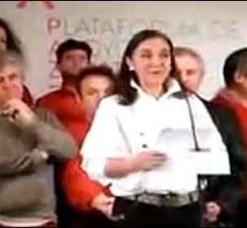 Carmen Vela con Almodovar y otros artistas de la zeja.
