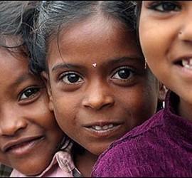 Niñas en la India.