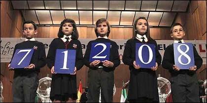 El premio gordo de la Lotería del Niño en 2012.