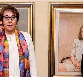 Carmen Martínez de Castro con Soraya.