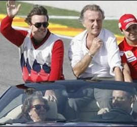 Alonso, Montezemolo, Massa, Barberá y Camps.