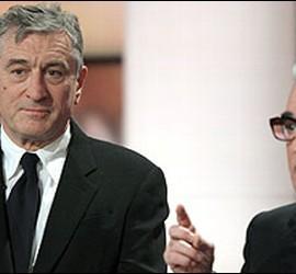 El protagonista de la película 'Uno de los nuestros', Robert de Niro, con el director de la cinta, Martin Scorsese.