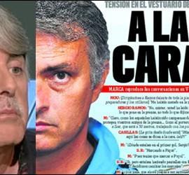 Siro López y la portada de Marca del 22 de enero de 2012.