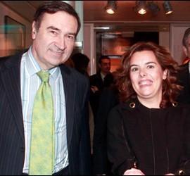 Pedrojota Ramírez y Soraya Sáenz de Santamaría.