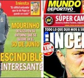 Portadas de AS y Mundo Deportivo.