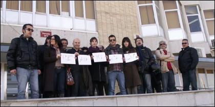 Protesta de la plantilla