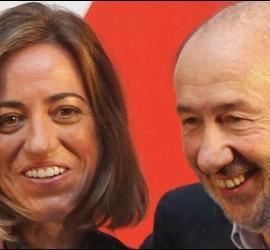 Los candidatos a la Secretaría General del PSOE, Carme Chacón y Alfredo Pérez Rubalcaba.