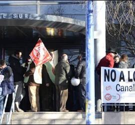Protestas de los trabajadores de Canal Sur