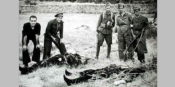 Fusilamiento de nacionales en 1936.