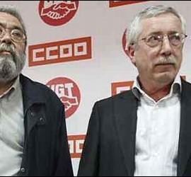 Cándido Méndez con Ignacio Fernández Toxo.