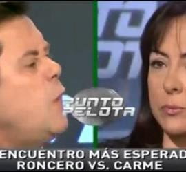 Captura de Punto Pelota con Tomás Roncero y Carme Barceló.