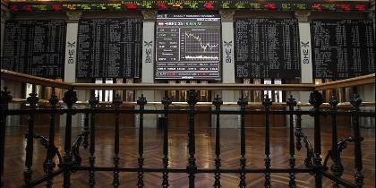 Vista general del interior de la sede de la Bolsa de Madrid.