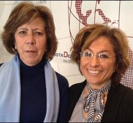 Curri Valenzuela y Virginia Ródenas.