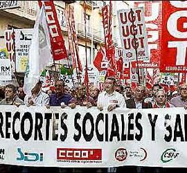 Manifestación de sindicalistas.
