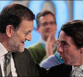 Mariano Rajoy con José María Aznar.