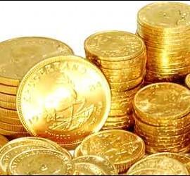 Un tesoro en monedas de oro.