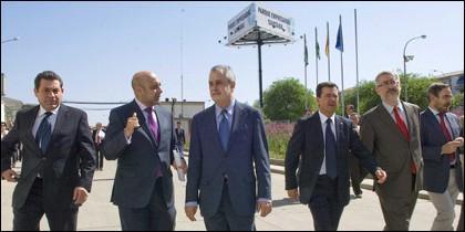 Griñán, visitando Linares el 15 de abril de 2011