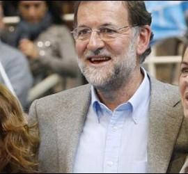 Soraya Sáenz de Santamaría, Mariano Rajoy y Dolores de Cospedal.