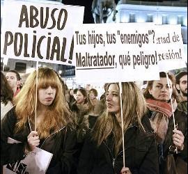 Manifestación del IES Luis Vives de Valencia