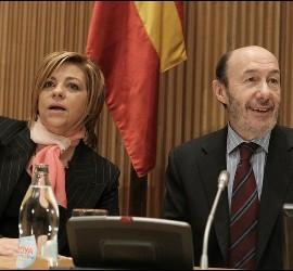 Alfredo Pérez Rubalcaba y Elena Valenciano.