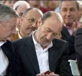José Blanco, Pérez Rubalcaba y Pachi Vázquez.