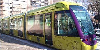 Una de las unidades del Tranvía de Jaén