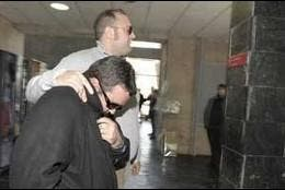 El ex religioso condenado, a su entrada a los juzgados