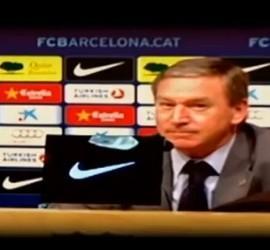 Captura de Punto Pelota con Javier Clemente en rueda de prensa.