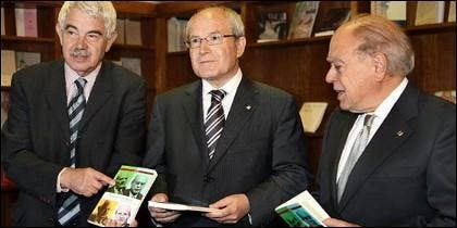 Maragall, Montilla y Pujol, en 2010