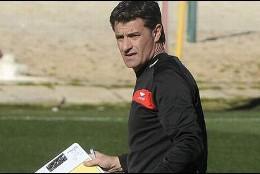 Michel, entrenando al Sevilla